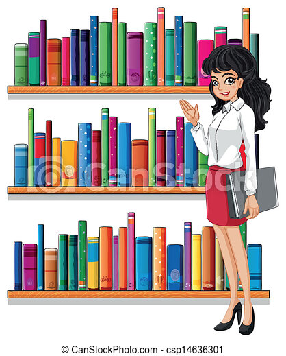 A young woman in the library - csp14636301