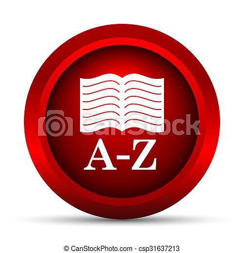 A-Z book icon - csp31637213
