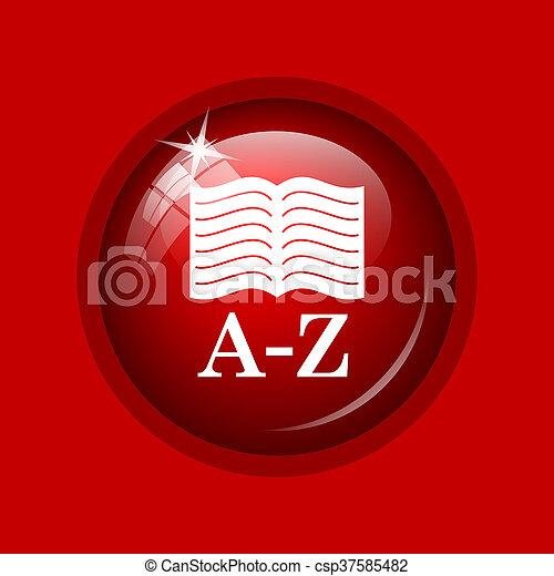 A-Z book icon - csp37585482