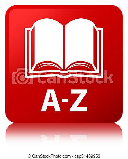 A-Z (book icon) red square button - csp51489953
