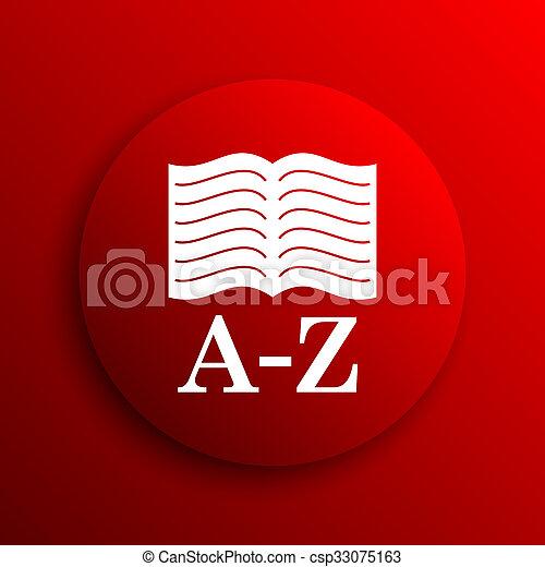 A-Z book icon - csp33075163
