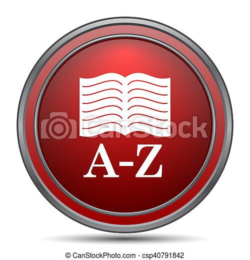 A-Z book icon - csp40791842