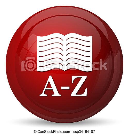 A-Z book icon - csp34164107