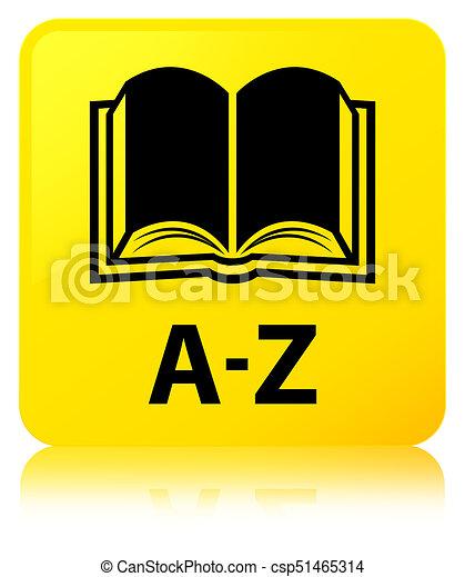 A-Z (book icon) yellow square button - csp51465314