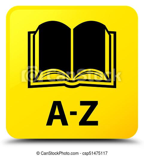 A-Z (book icon) yellow square button - csp51475117