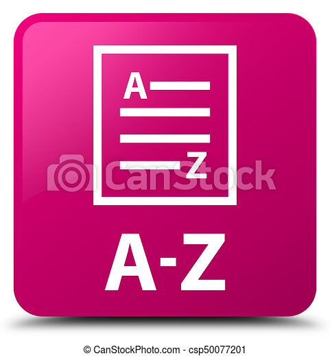 A-Z (list page icon) pink square button - csp50077201