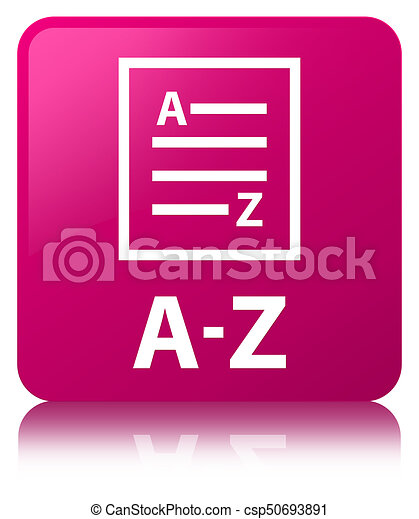 A-Z (list page icon) pink square button - csp50693891