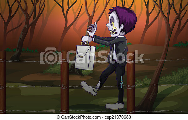 A zombie at the forest - csp21370680