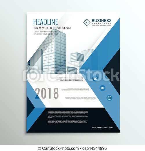 A Blue Annual Report Brochure Flyer Design Template Cover  Eps