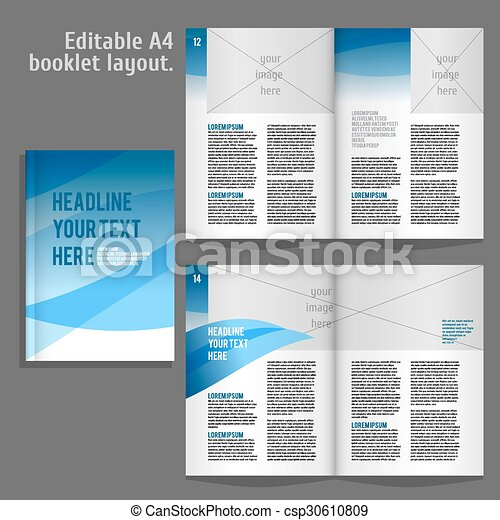 a4 book layout design template a4 book geometric abstract layout
