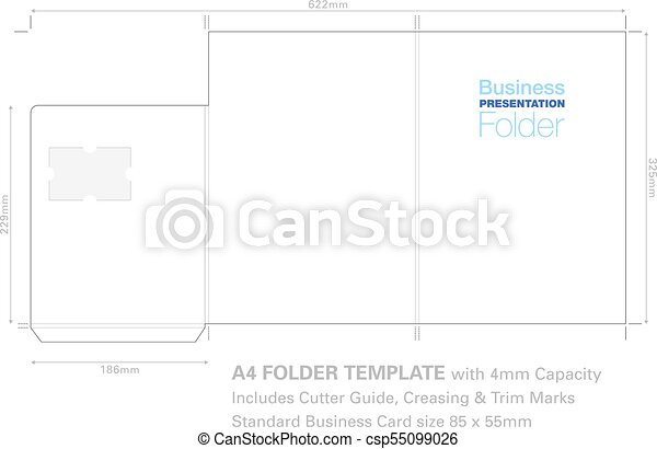 A4 print folder with pocket presentation folder a4 template presentation folder a4 template with flow background graphic cutter guide with standard business card slot and 4mm capacity flashek Gallery