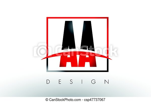 aa a logo letters with red and black colors and swoosh creative rh canstockphoto com red and black logo social media red and black logo social media
