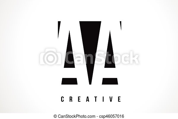 Aa A White Letter Logo Design With Black Square
