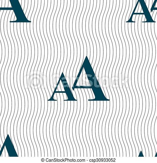 Aa Muster Zeichen Vergrößern Seamless Vektor Schriftart