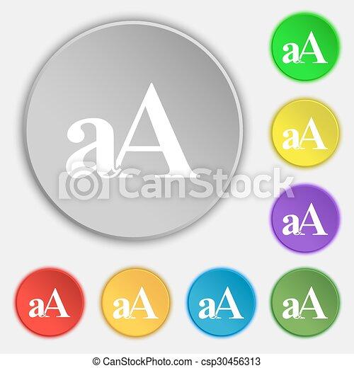 Aa Wohnung Buttons Zeichen Vergrößern Symbole Vektor