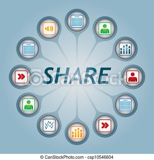 aandeel, meldingsbord - csp10546604