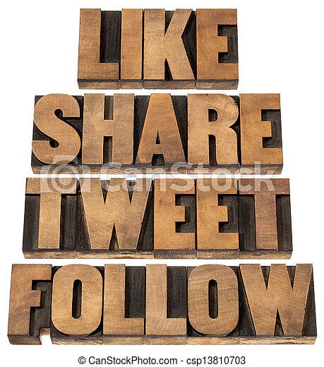 aandeel, zoals, tweet, volgen - csp13810703