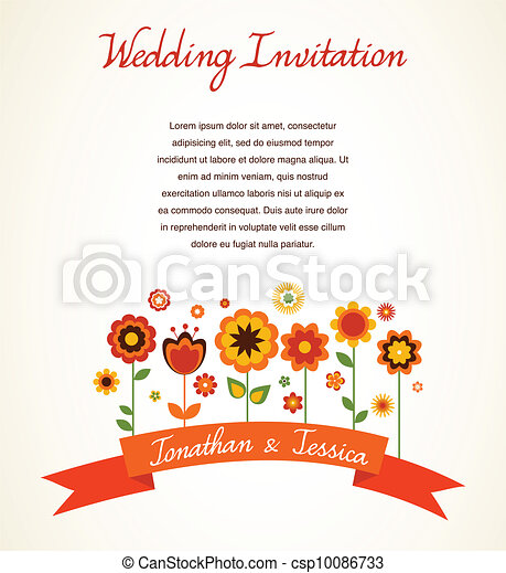 aankondiging, kaart, groet, uitnodiging, trouwfeest, of - csp10086733