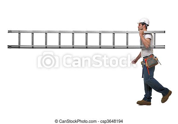 aannemer, ladder - csp3648194