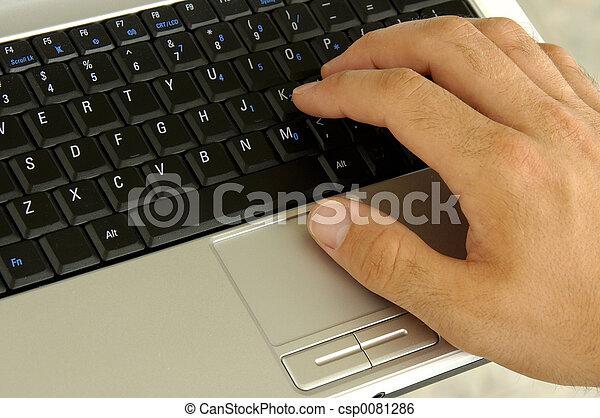 aantekenboekje, toetsenbord - csp0081286