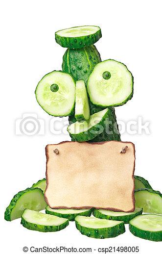 aantekening, komkommer - csp21498005