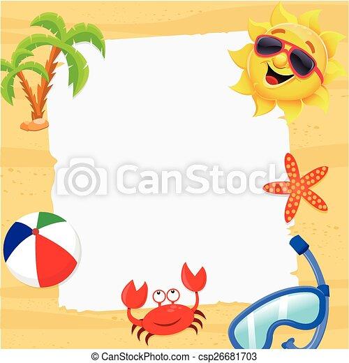 aantekening, zomer - csp26681703