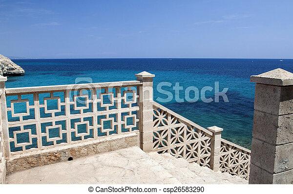 aanzicht, zee, balkon - csp26583290