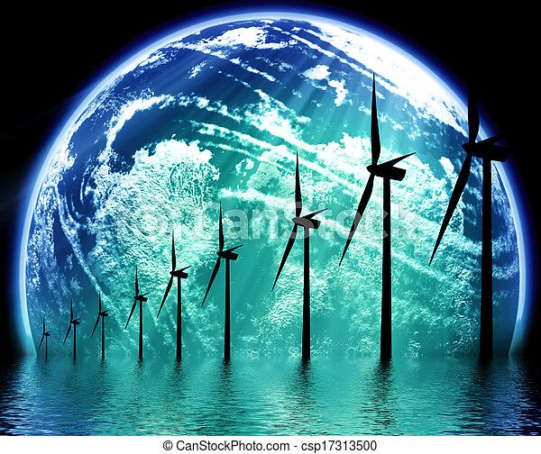aarde, ecologisch, technologie - csp17313500