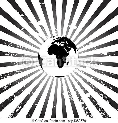 aarde, grunge, achtergrond - csp4383879
