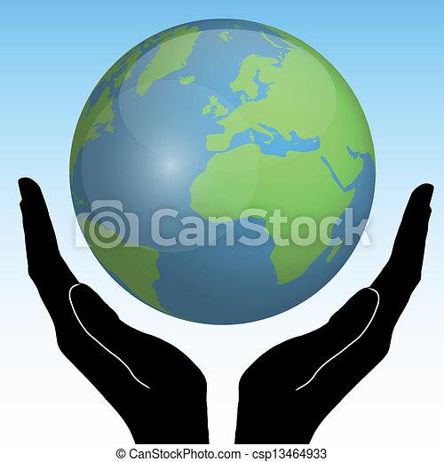aarde, handen - csp13464933