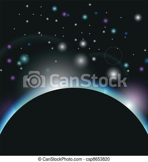 aarde, zonopkomst, achtergrond, ruimte - csp8653820