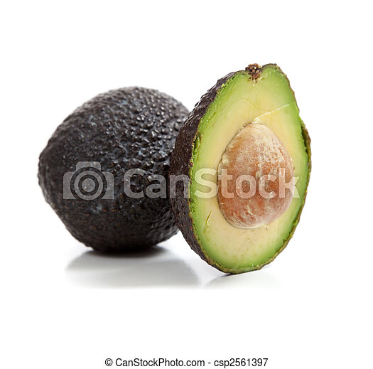 abacates, fundo branco - csp2561397