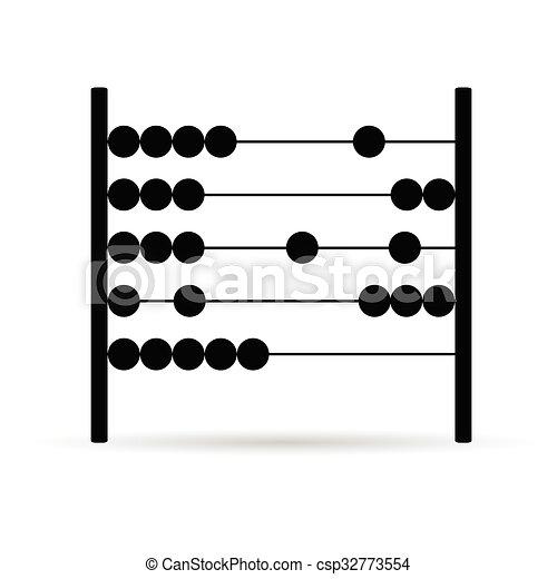 abacus vector in black - csp32773554