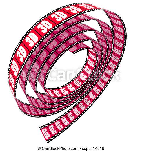 3d película rodada - csp5414816