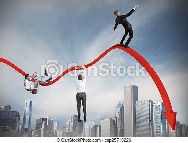 Hombres de negocios cayendo - csp25713226