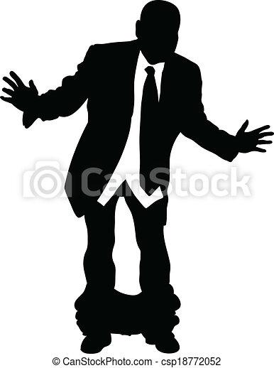 Hombre de negocios con los pantalones bajados - csp18772052