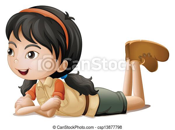 Una chica tumbada - csp13877798