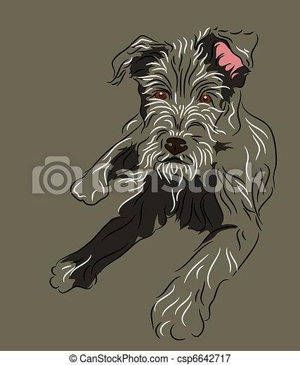 Cachorro de lobo tirado - csp6642717