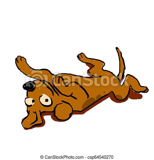 Perro acostado - csp64540270