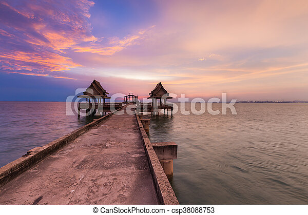 Abandon temple on the sea - csp38088753