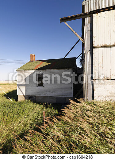 abandonado, edificio. - csp1604218