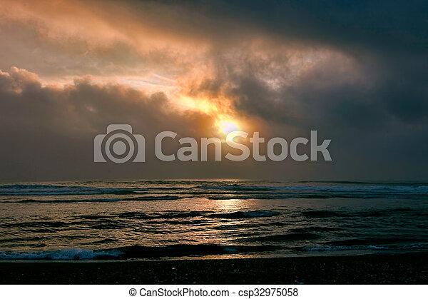 Abandoned Beach Sunset - csp32975058