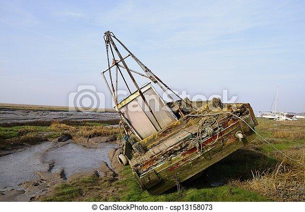 abandoned boat - csp13158073