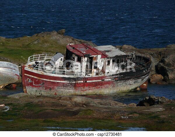 abandoned boat - csp12730481