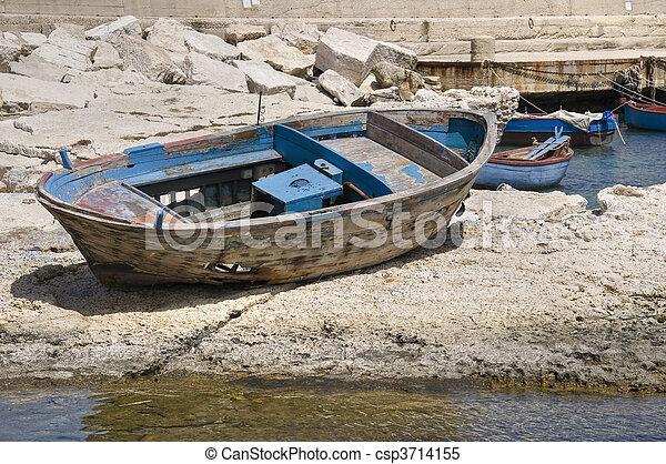 Abandoned boat. - csp3714155