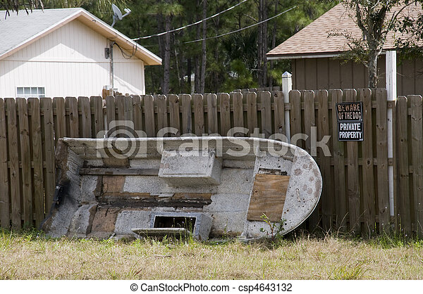 Abandoned Boat - csp4643132