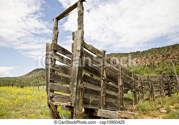 Abandoned Cattle Loading Gate - csp10950425