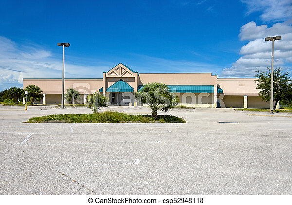 Abandoned Commercial Building - csp52948118