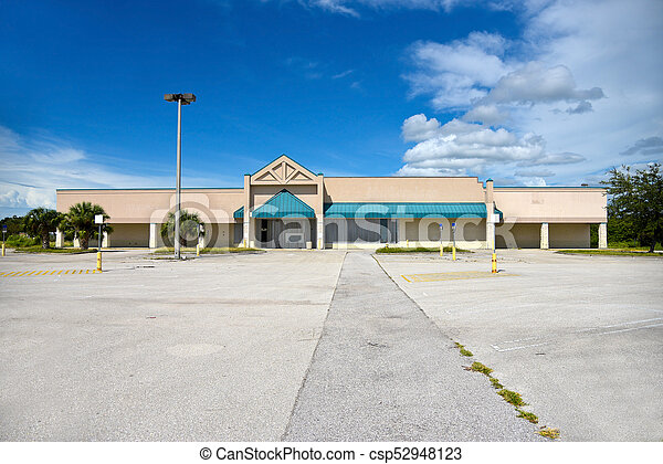 Abandoned Commercial Building - csp52948123