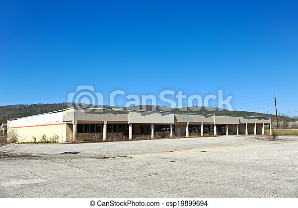 Abandoned Commercial Building - csp19899694